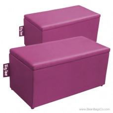 Big Joe 2 in 1  Bean Bag Chair Bench Ottoman - Pink Passion