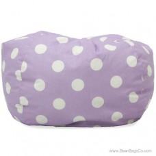 Classic Bean Bag Chair - Purple w/ White Dots