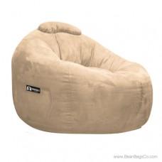 Soft Suede Omega Bean Bag Chair - Fawn Lounger